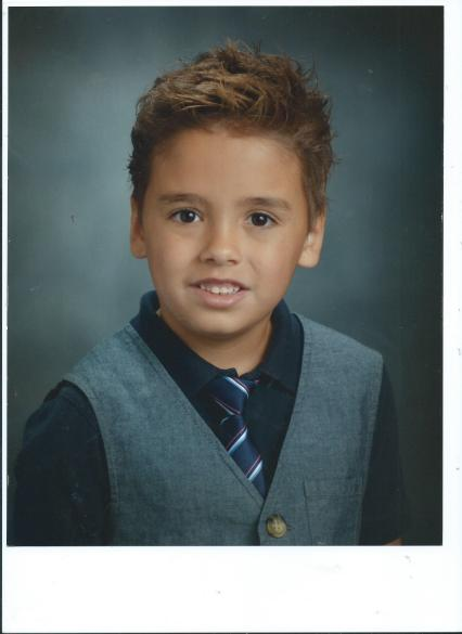 jacob-daniel of family saloom, last year's first grade school picture, Moon Township, Pennsylvania