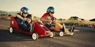 kids racing go carts
