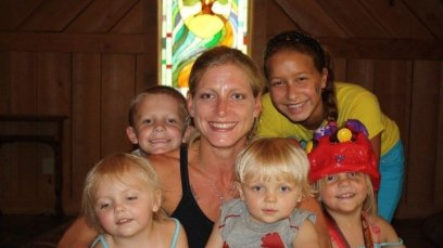 Laura and children.MS