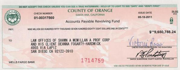 Deanna Fogarty-Hardwick Check for Millions for CPS and Father and Corrupt Family Court Kidnapping