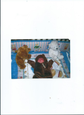 julian.my baby bear day brought home from hospital.Memorial Drive.Houston.TX.77007
