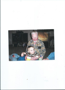 julian with happy pappy.daddy gave julian a mohawk without warning that visit from PA