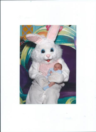julians first Easter.Willowbrook Mall.Houston.TX.2007