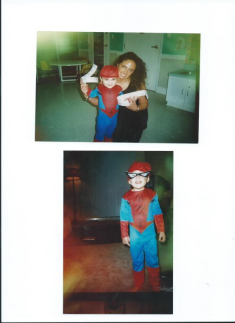 Mommy and Spider Man Julian.Kids R Kids Tomball TX.Halloween Carnival