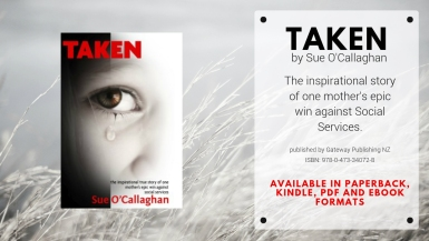 TAKEN.BOOK BY SUE O CALLAGHAN.SHE FOUGHT AND WON.ABROAD